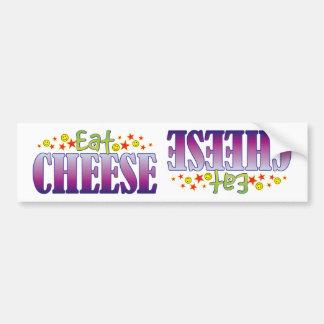 Cheese Eat Car Bumper Sticker