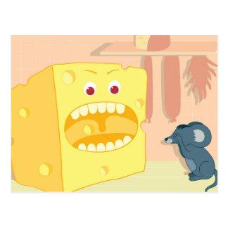 Cheese Eats Mouse Postcard