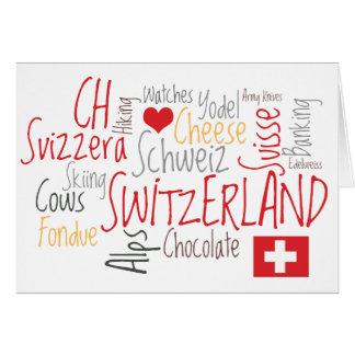 Cheese Fondue Greeting from Switzerland Card