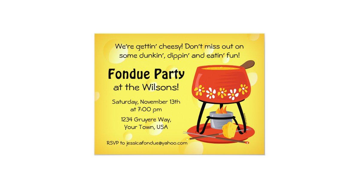 Cheese Fondue Party Invitation | Zazzle.com