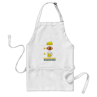 Cheese Football Beer Wisconsin Adult Apron