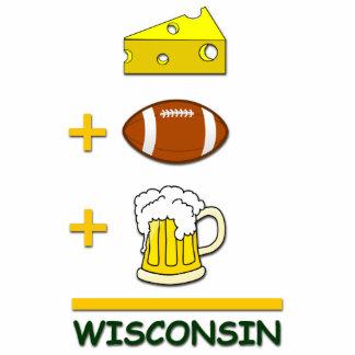 Cheese Football Beer Wisconsin Cutout