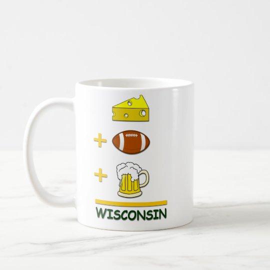 Cheese Football Beer Wisconsin Funny Coffee Mug