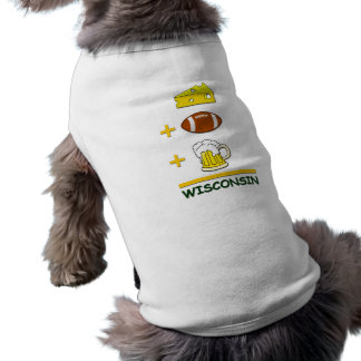 Cheese Football Beer Wisconsin Funny Doggie Shirt