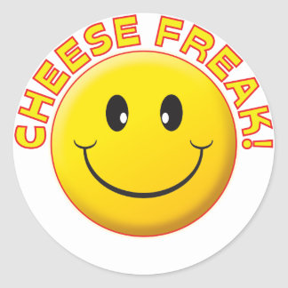 Cheese Freak Smile Stickers