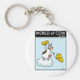 Cheese God! Basic Round Button Keychain