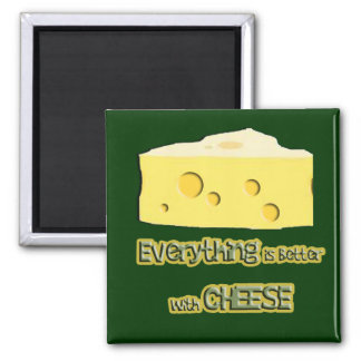 cheese goes with everything 2 inch square magnet