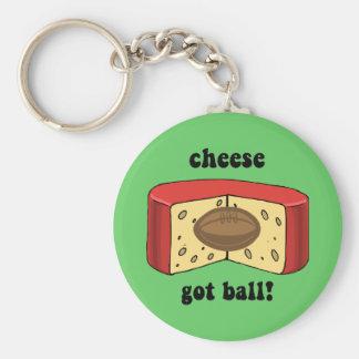 cheese got ball keychain