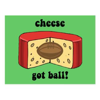 cheese got ball postcard