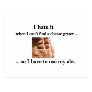 Cheese Grater Abs Postcard - Customizable