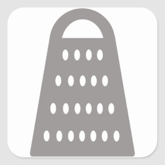 Cheese Grater Square Sticker