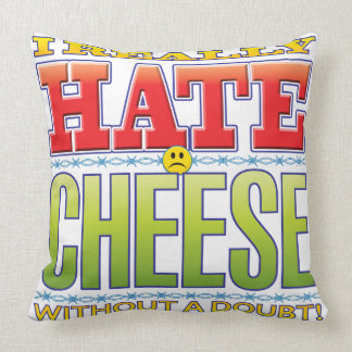 Cheese Hate Face Throw Pillow