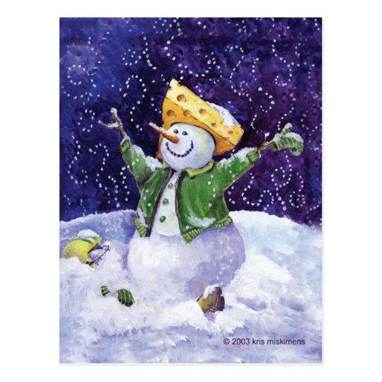 Cheese Head Christmas Postcard