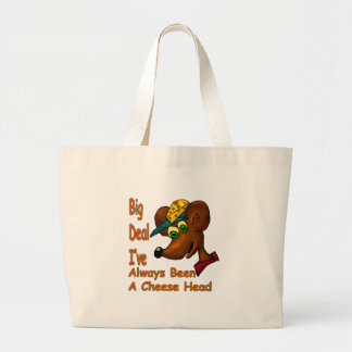 Cheese Head Large Tote Bag