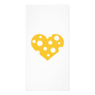 Cheese heart photo cards