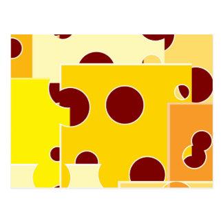 Cheese Hole Pattern Postcard