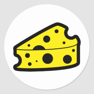 Cheese Icon Round Stickers