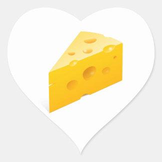 Cheese Illustration Heart Sticker