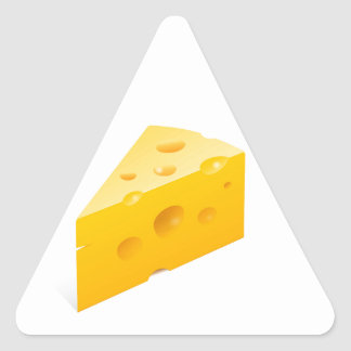 Cheese Illustration Triangle Sticker
