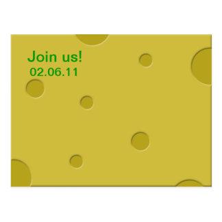 cheese invite postcard