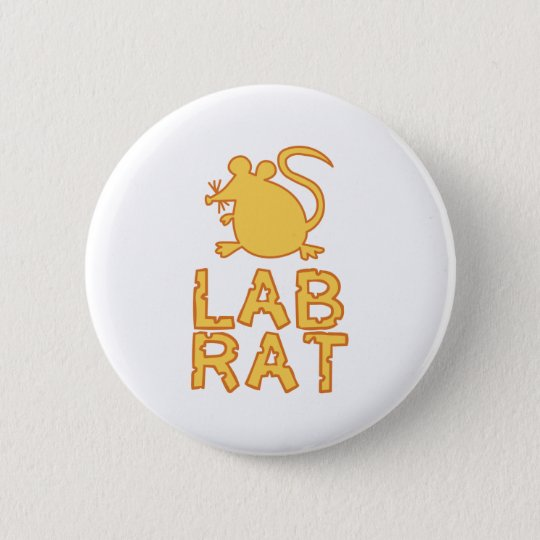 Cheese Lab Rat Button