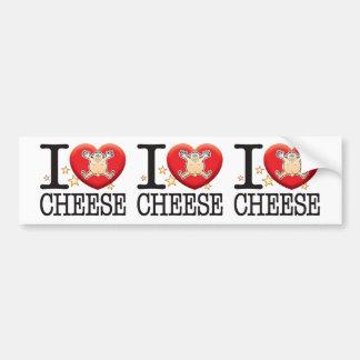Cheese Love Man Car Bumper Sticker