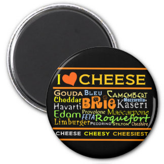 Cheese Lovers 2 Inch Round Magnet