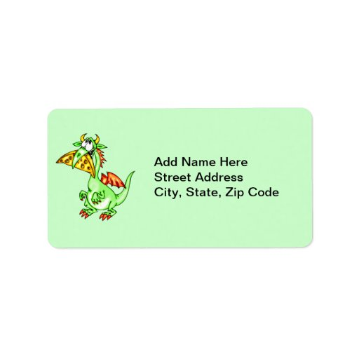Cheese Loving Dragon Address Label