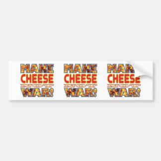 Cheese Make X Car Bumper Sticker