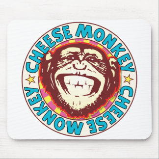 Cheese Monkey Mouse Pad