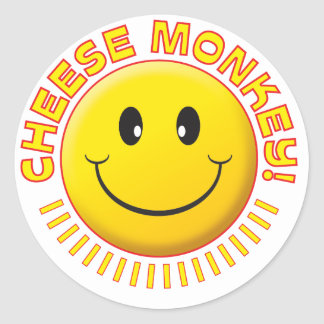 Cheese Monkey Smiley Stickers