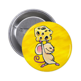 Cheese Mouse Pinback Button