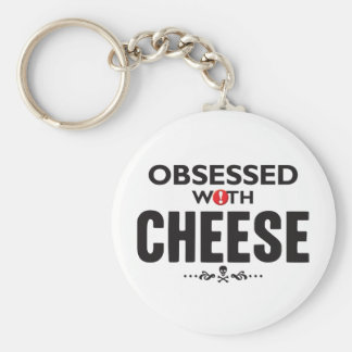 Cheese Obsessed Basic Round Button Keychain