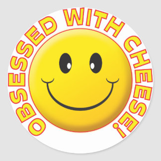 Cheese Obsessed Smile Stickers