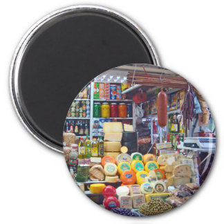 Cheese, Olives & Nuts 2 Inch Round Magnet