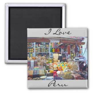 Cheese, Olives & Nuts 2 Inch Square Magnet