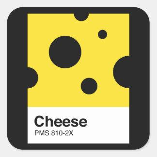 Cheese pantone square sticker