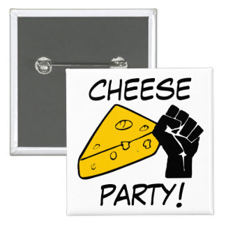 Cheese Party! 2 Inch Square Button