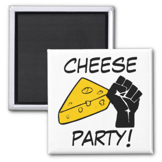 Cheese Party 2 Inch Square Magnet