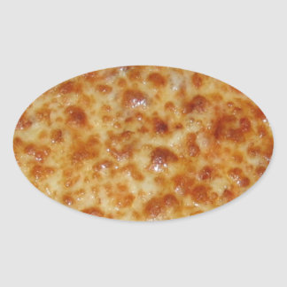 Cheese Pizza Oval Sticker