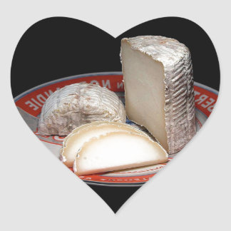 CHEESE PLATTER WITH CHEESE SLICES - CHEESE GIFT HEART STICKERS