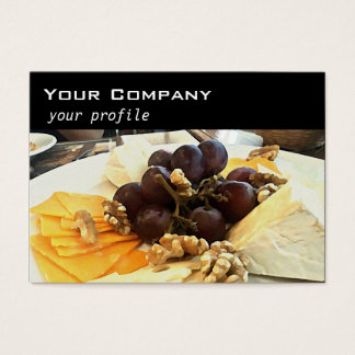 cheese platter with grapes business card