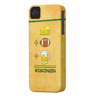 Cheese Plus Football Plus Beer Equals Wisconsin iPhone 4 Case-Mate Cases