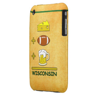 Cheese Plus Football Plus Beer Equals Wisconsin iPhone 3 Case-Mate Cases