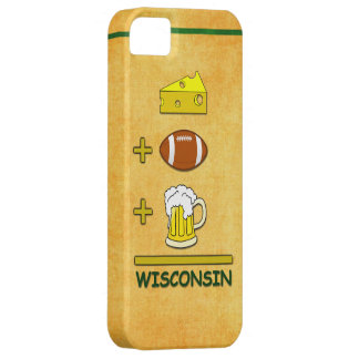 Cheese Plus Football Plus Beer Equals Wisconsin iPhone 5 Cases