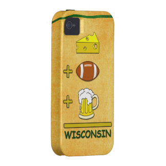 Cheese Plus Football Plus Beer Equals Wisconsin Vibe iPhone 4 Cover