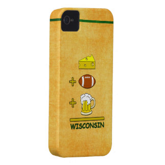 Cheese Plus Football Plus Beer Equals Wisconsin iPhone 4 Covers