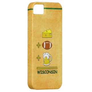 Cheese Plus Football Plus Beer Equals Wisconsin iPhone 5 Case