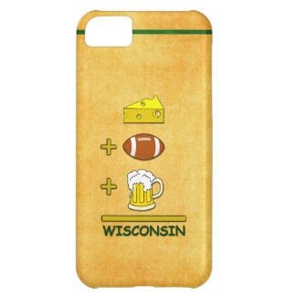 Cheese Plus Football Plus Beer Equals Wisconsin Case For iPhone 5C