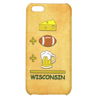 Cheese Plus Football Plus Beer Equals Wisconsin iPhone 5C Cover